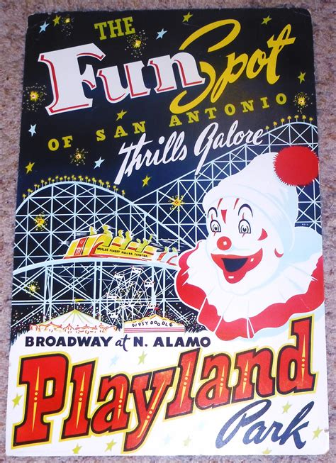 theme park advertisement stuff from the park souvenir friday playland at the park