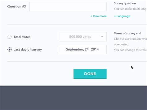 web design online questionnaire survey platform design by ramotion dribbble
