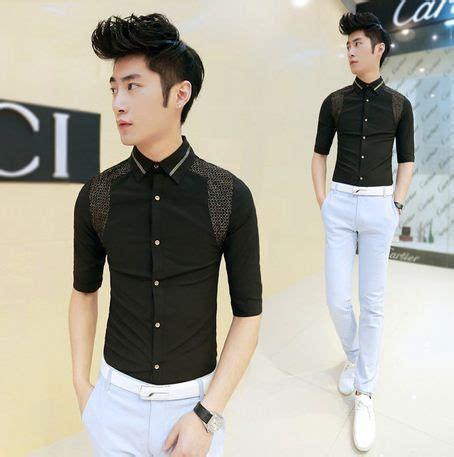 Kemeja Luxuly 2014 new fashion patchwork luxury style shirts quality casual shirts wholesale 24 66