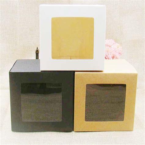cm whiteblackkraft window box packing gift boxes