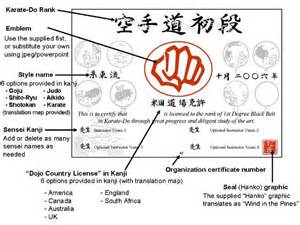 Martial Arts Certificate Templates Free Belt Certificate Template Downloadkarate The