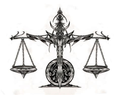 libra scale tattoo designs the libra scale thoughts of past present and future