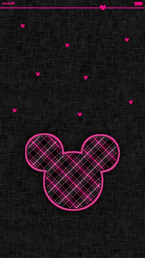 iphone   mickey mouse pinkblack wallpaper disney