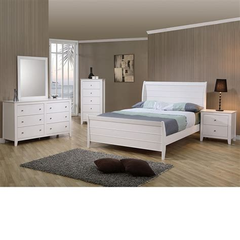 sandy beach bedroom set white dreamfurniture com sandy beach youth sleigh bedroom set