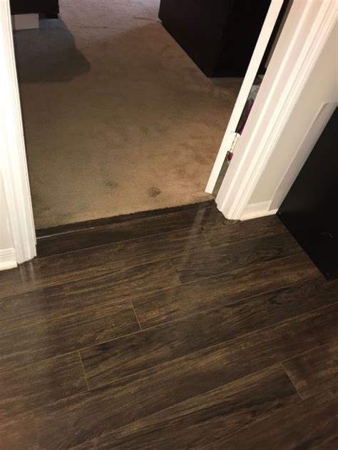 Hallway to Bedroom Laminate floor transition