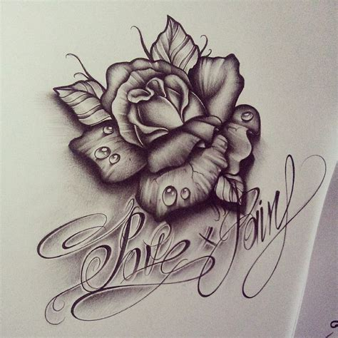tattoo pen rose rose drop by edwardmiller deviantart com on deviantart