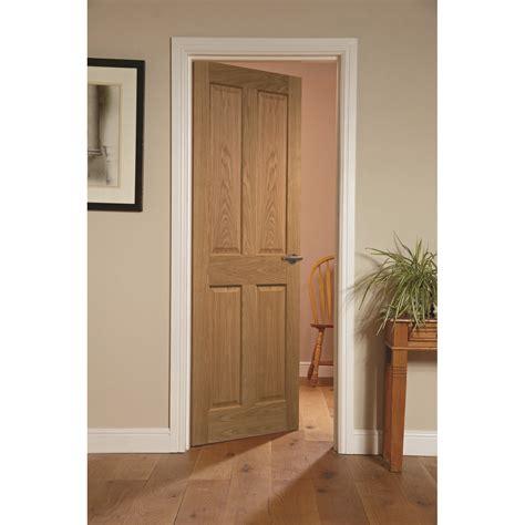 Oak Veneer Interior Doors Canterbury Interior Door Oak Veneer 4 Panels 3 Available Sizes Ebay