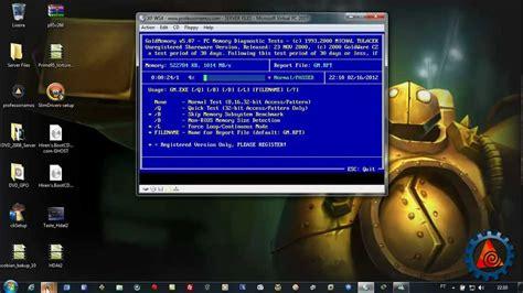 Gold Memory For Your Vista Pc by Teste De Mem 243 Ria Ram Para Pc Hirens Boot E A