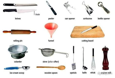 kitchen utensils names image gallery kitchen equipment names