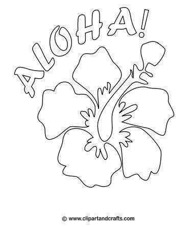 Hawaii Blumen Designs And F&228rben On Pinterest sketch template