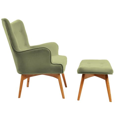 Green Accent Chair Nspire Rigi Accent Chair With Stool Olive Green Disc 403 961og Modern Furniture Canada