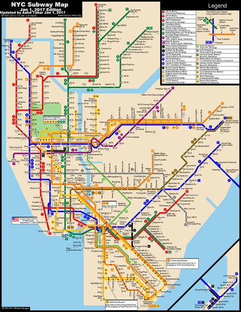 subway map www nycsubway org new york city subway route map by michael calcagno