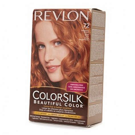 strawberry blonde boxed color revlon colorsilk hair color dye strawberry blonde 72