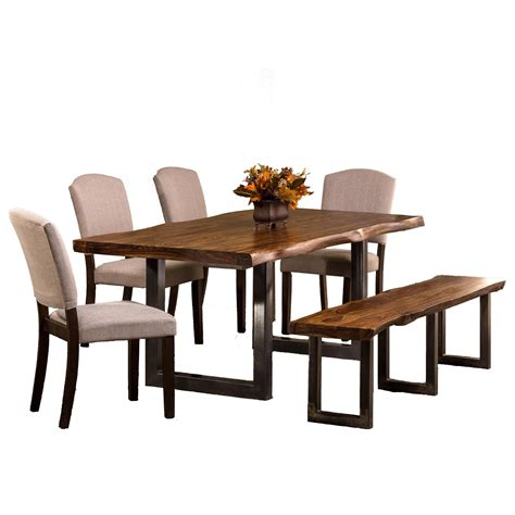 6 piece dining set with bench hillsdale emerson 6 piece rectangle dining set with dining