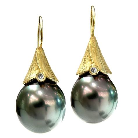 Handmade Drop Earrings - 2016 barbara heinrich tahitian pearl gold handmade