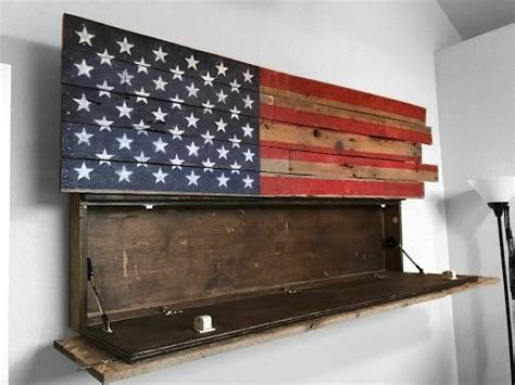 wood american flag gun cabinet how to make a gun case american flag gun safe