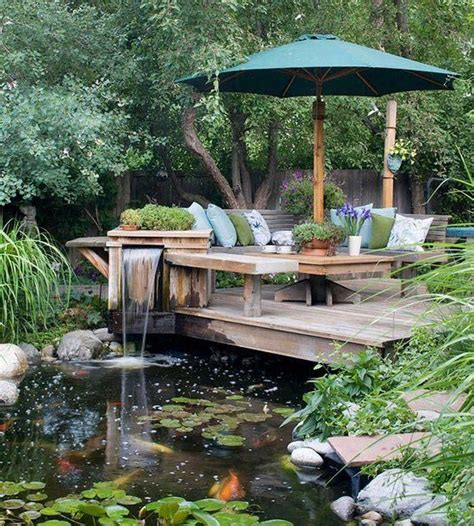 outdoor living spaces koi pond