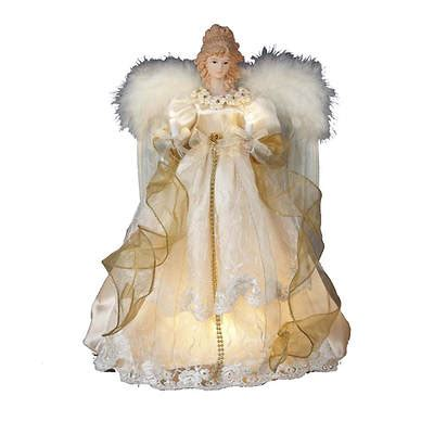 kurt adler angel tree topper kurt adler 16 1 2 quot lighted tree topper bj s wholesale club
