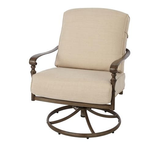 cushion for lounge chair outdoor hton bay cavasso swivel rocking metal outdoor lounge