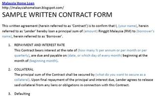 Written Agreement Template contract for borrowing money from family free printable documents