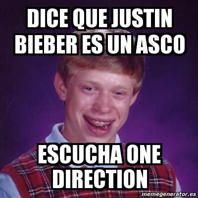 Meme Asco - meme bad luck brian dice que justin bieber es un asco