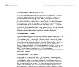 Mi Familia Essay by Conversation Topic 1 Talking About Yourself Gcse Modern Foreign Languages Marked