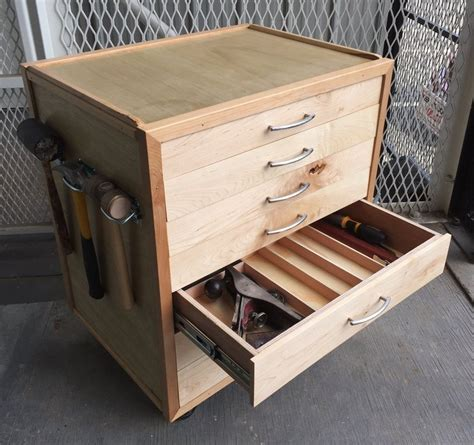 rolling tool cabinet plans rolling tool chest by javed akhtar lumberjocks com