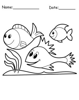 happy fish coloring page happy fish animal printable coloring pages