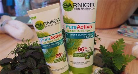 Garnier Matcha Detox Review by Mini Review โฟมชาเข ยว Garnier Active Matcha Detox