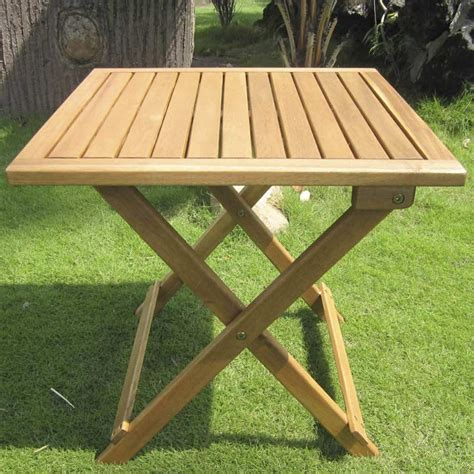 Folding Wooden Garden Table Rondeau Leisure Kent 50cm Side Table On Sale Fast Delivery Greenfingers