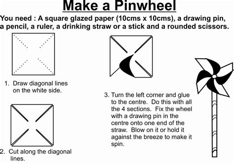 Make Pinwheels Out Paper - make a pinwheel