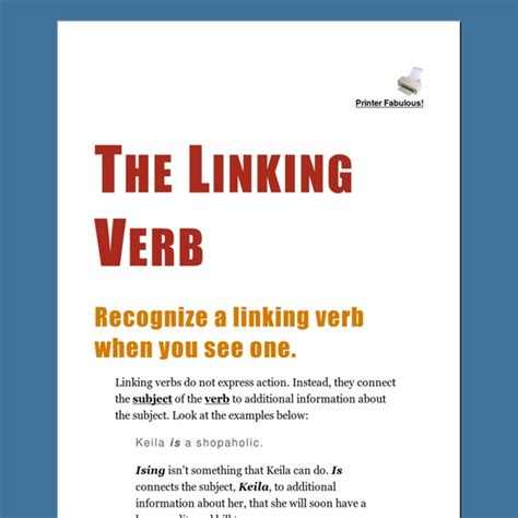 the linking verb pearltrees