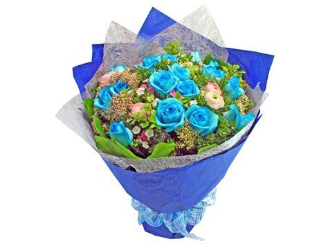 Special L 810 High Quality Colourfull Blue Flowers Kimono florist flower bouquet roses bouquet 25 l129095 give gift boutique flower shop