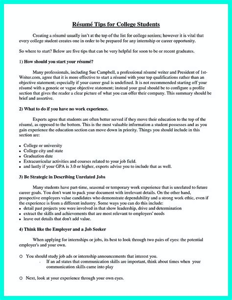 what to put on a resume for college the college resume template to get a