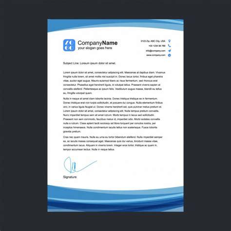 Blau Vertrag Kündigen Vorlage Blau Briefkopf Vorlage Der Kostenlosen Vektor