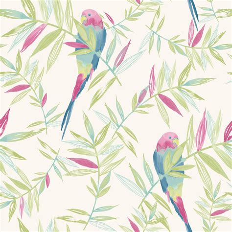 leaf pattern wallpaper uk rasch parrots bird pattern tropical leaf leaves painted