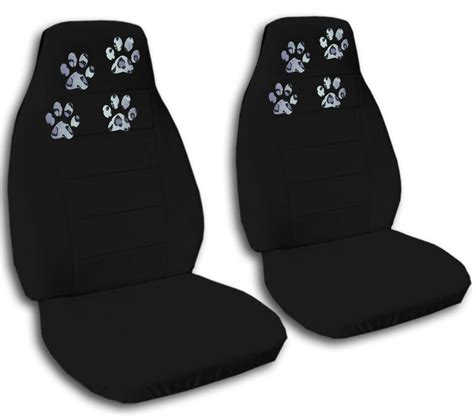 jeep paw print seat covers paw prints car truck seat covers in black velour front