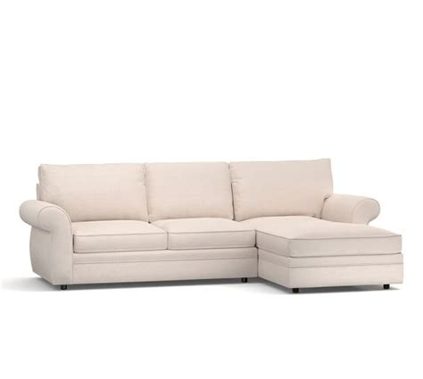 pearce upholstered sofa with chaise sectional pottery barn