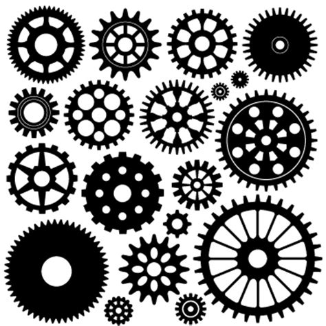 printable clock gears cogs and related steunk themed clip art would you