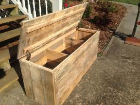 Diy large rustic pallet chest pallet furniture plans