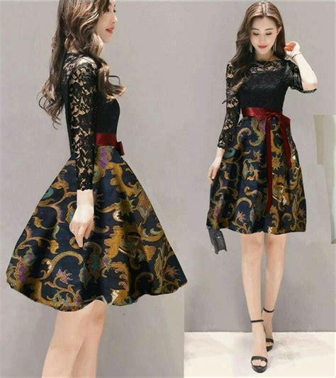 jual dress batik indira batik modern  lapak annisa