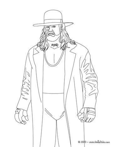 wrestler undertaker coloring pages hellokids com