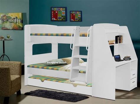 bunk bed with trundle and desk 17 best images about bunkbeds on pinterest solid pine