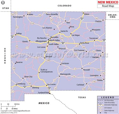 road map of new mexico and texas new mexico road map http www mapsofworld