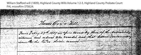 Highland County Ohio Court Records William Stafford