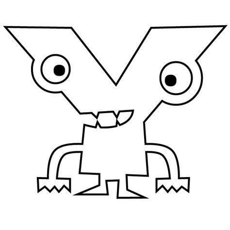 Letter Y Coloring Page Y Coloring Pages