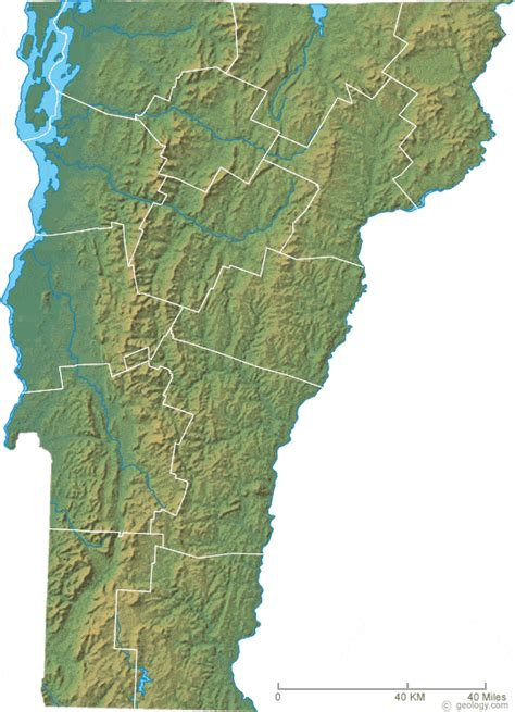 map vermont map of vermont