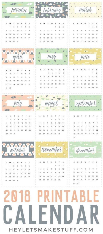 small printable daily calendar this geometric and fun 2018 printable calendar is the