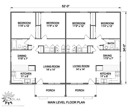 multi family house plans duplex multi family plan 94480 at familyhomeplans com