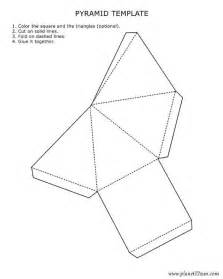 3d template printable 3d pyramid template color it cut it out fold